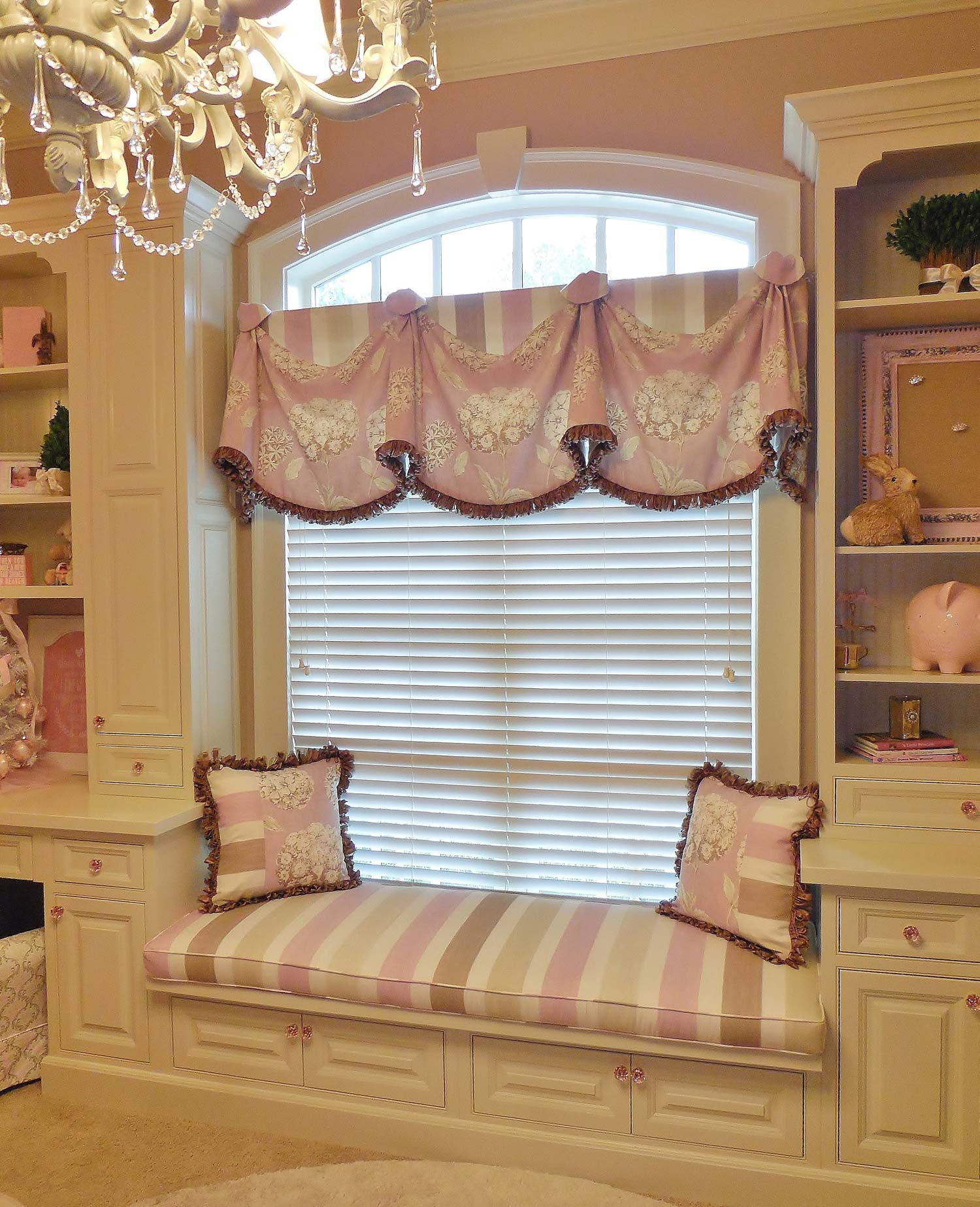 bench-cushion throw pillows valance