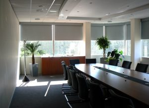 blackout shades conference room